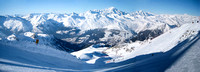 Les Arcs - views - Feb 09